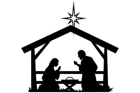 Christmas-Nativity-Scene-by-iDrawSilhouettes
